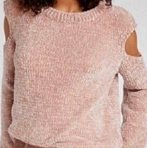 Express Cold Shoulder Sweater with Gold weave NWT